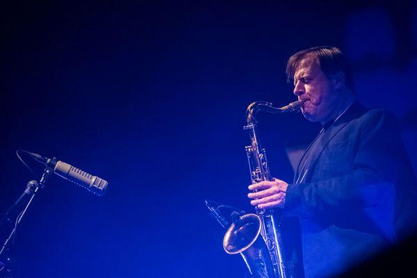 jazz saxofon podium